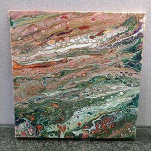 Orig. Acrylic Pour Art Canvas Wall Decor PICK ONE